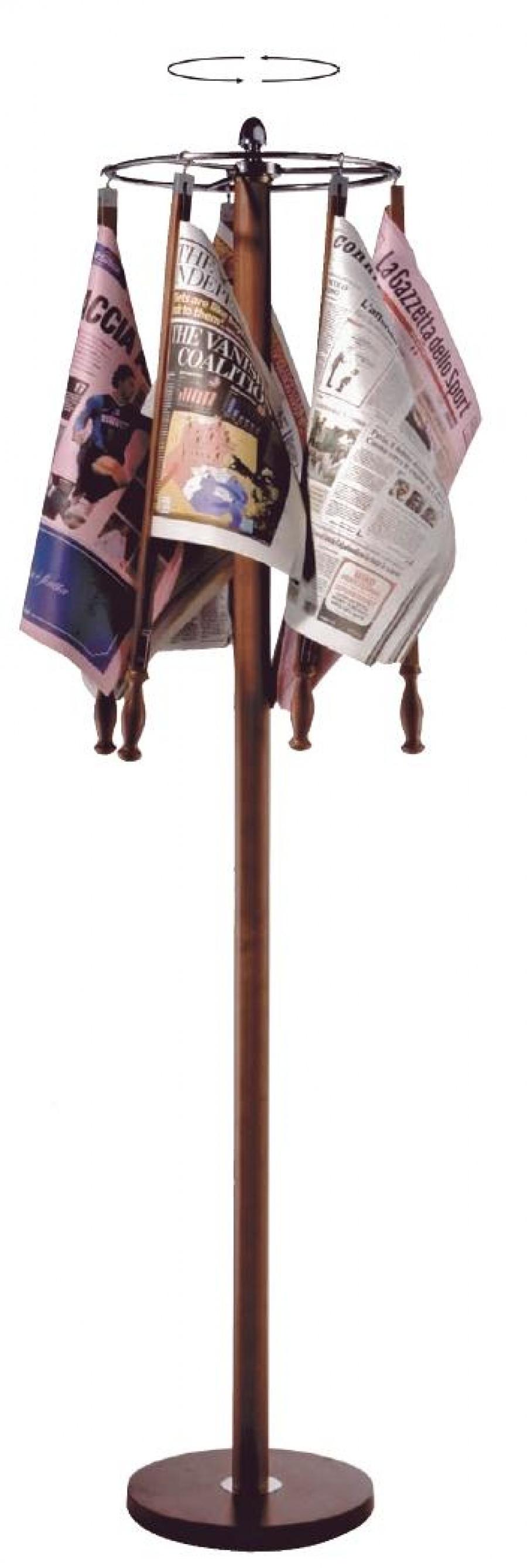 Nowoczesna architektura Drewniany stojak na gazety – Vedapol – wózki sklepowe, wózki BG66